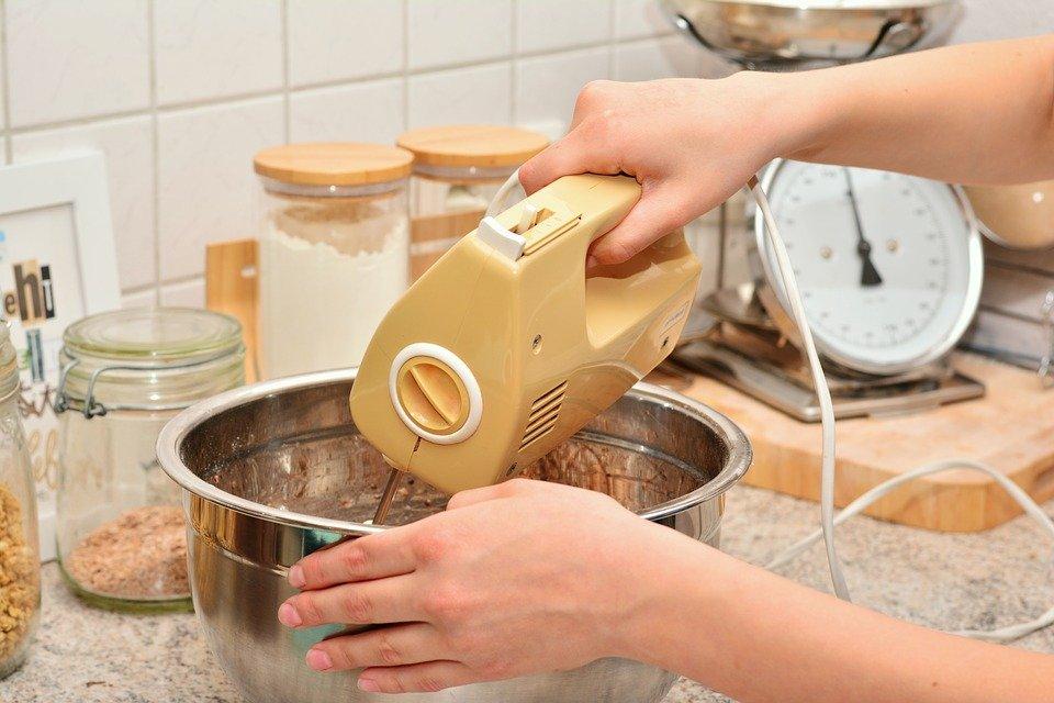 Hands, Stir, Dough Stir, Cake Mix, Mixer