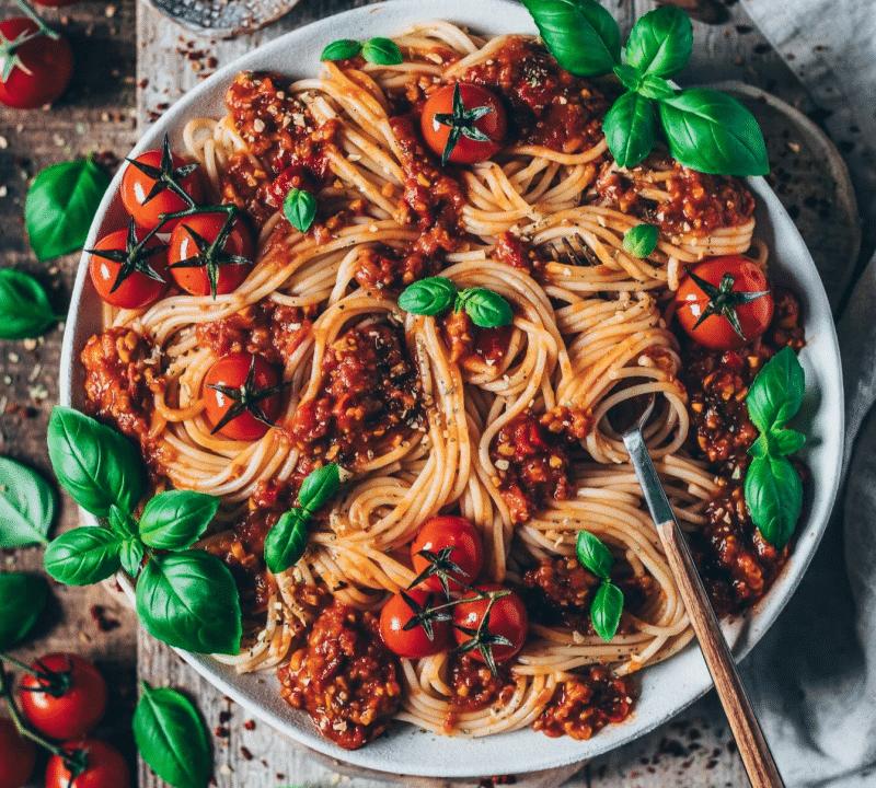 Vegan Spaghetti Bolognease