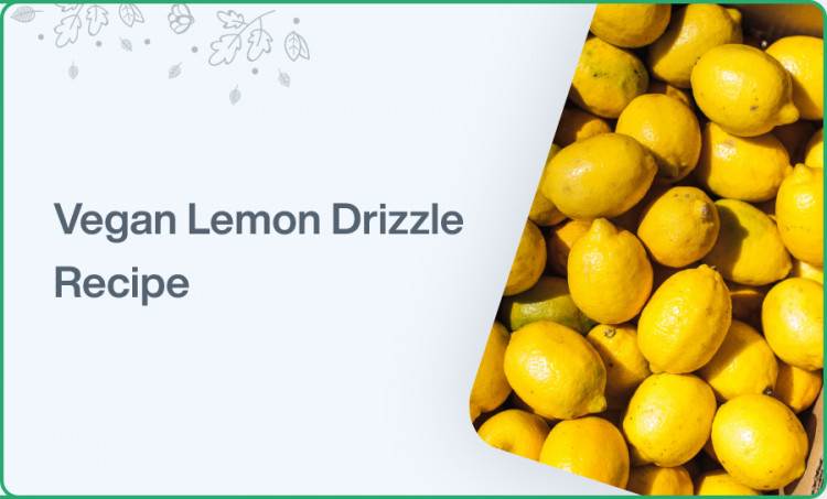 The Easiest Vegan Lemon Drizzle Cake Recipe